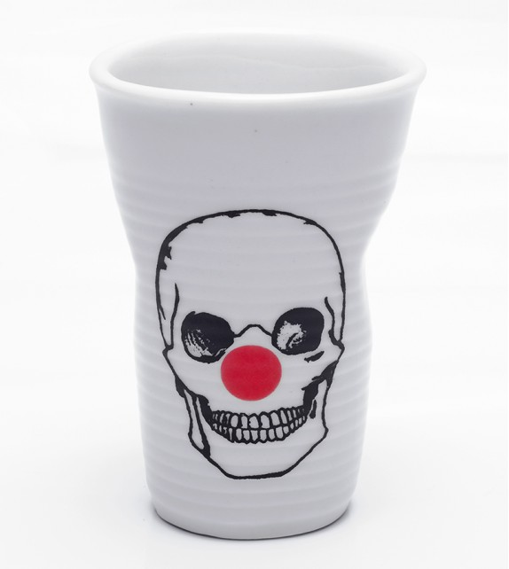 Copo Porcelana Caveira - Palhaço