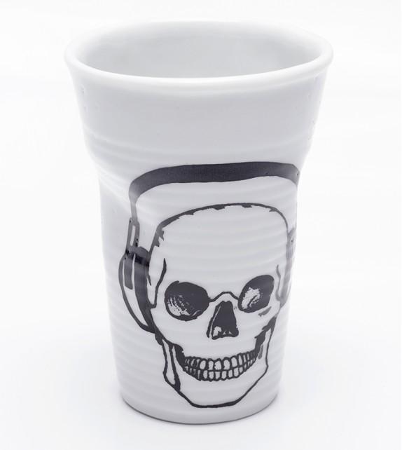 Copo Porcelana Caveira - Fones