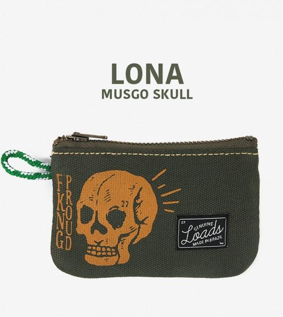 Carteira Loads - Lona Musgo Skull