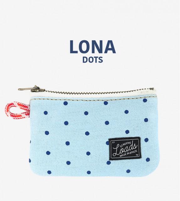 Carteira Loads - Lona Azul Dots