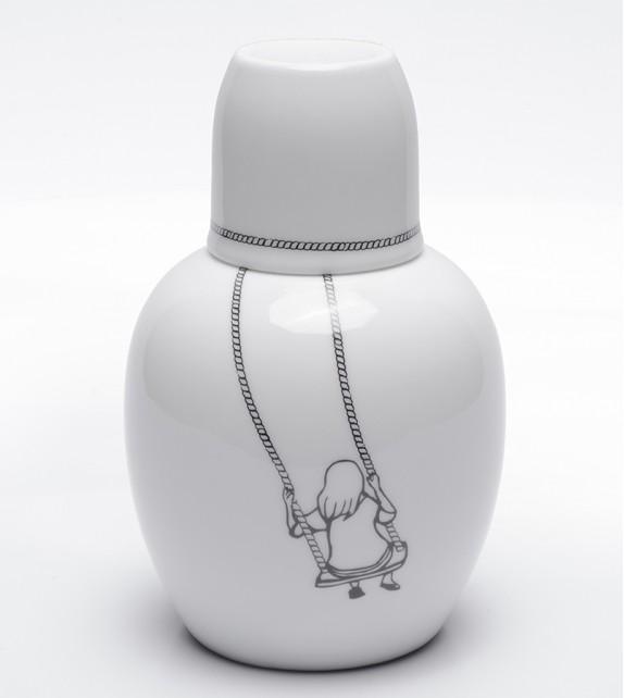 Copo Porcelana Caveira - Rei