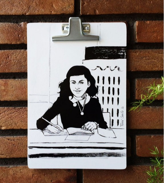 Prancheta Ilustrada - Anne Frank