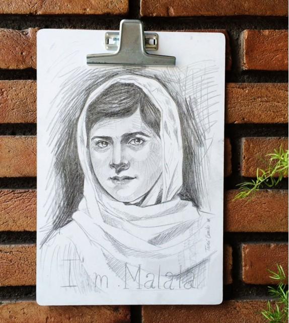 Prancheta Ilustrada - Malala Yousafzai