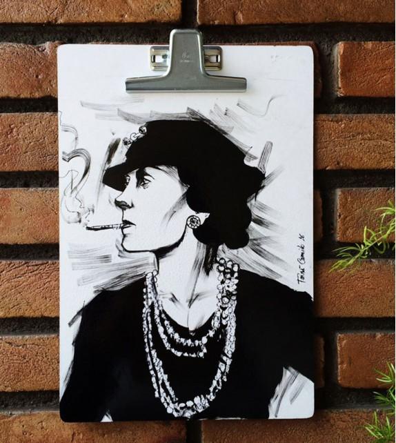 Prancheta Ilustrada - Coco Chanel