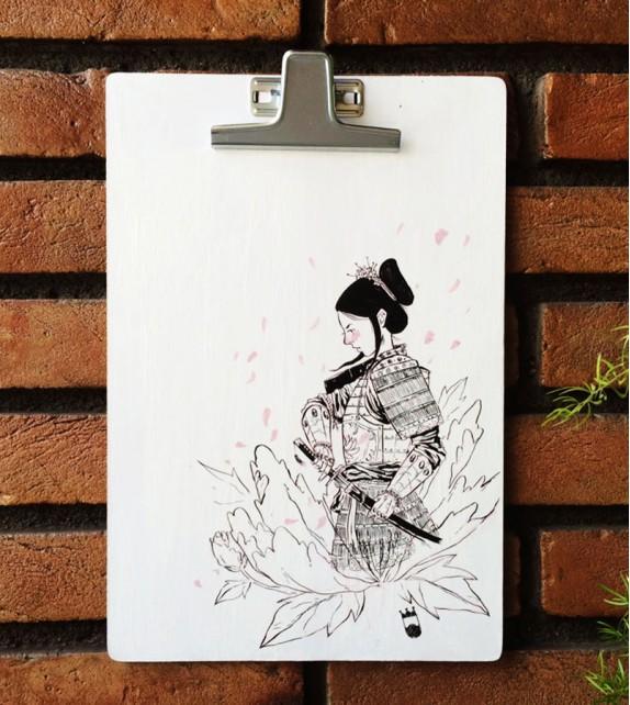 Prancheta Ilustrada - Tomoe Gozen